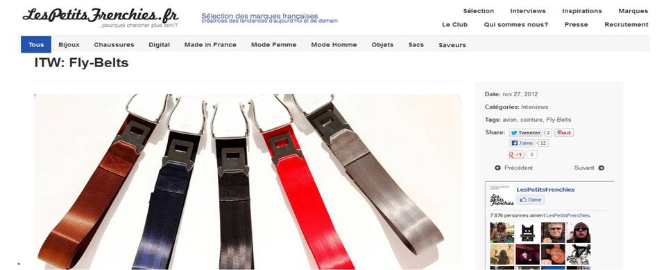 Copie Ecran Interview- Fly-Belts Les Petits Frenchies