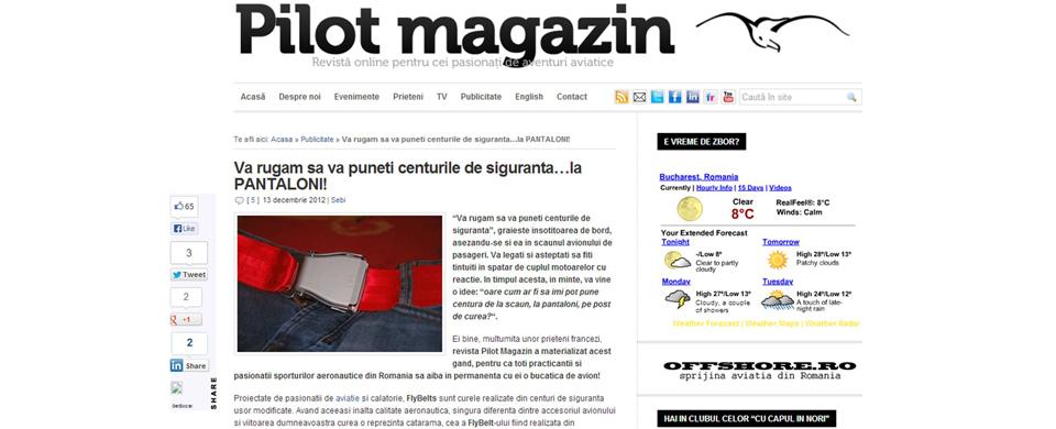 Fly-Belts Article Roumanie Pilot Magazin