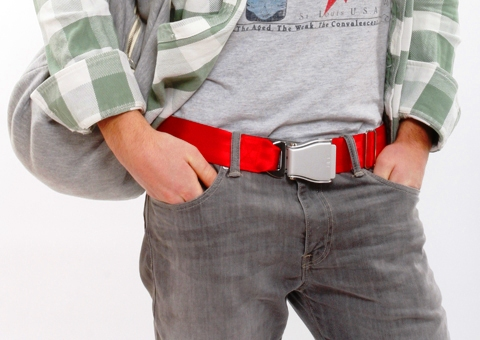 Fly-Belts airline style belts as fashion apparel