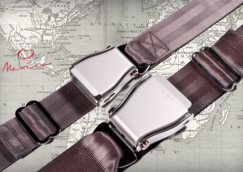 Aircraft seat belt, original and slim size