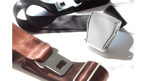 Interchangeables pack airline seat belt brown black