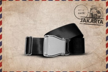 Packshot Airline Aircraft Seat Belt Black Jakarta