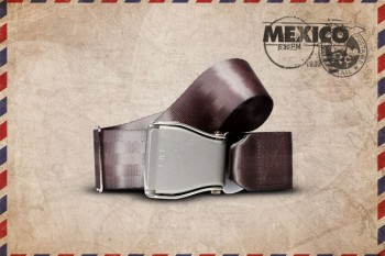 Packshot Airline Aircraft Seat Belt Grey Mexico
