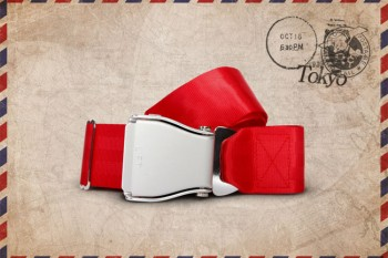 Packshot Airline Aircraft Seat Belt Red Tokyo