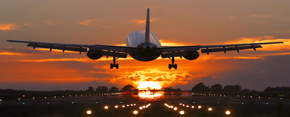 Monarch Airlines Landing Sunset Runway