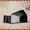 Packshot Ceinture d'Avion Noir Jakarta